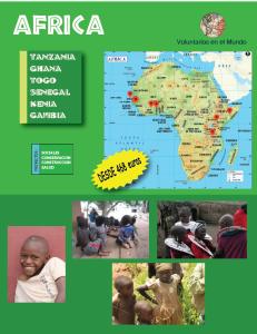 Voluntariado en Africa