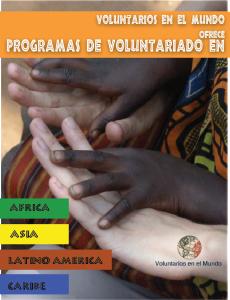 Programas de voluntariado